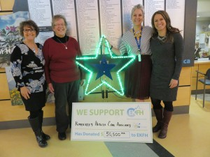 Donna Grainger, KHCA President Jean Minifie, Karyn Morash (Interior Health) & Theresa Larson (EKFH board member) are all smiles as all the stars light up in the 2015 Starlite Campaign