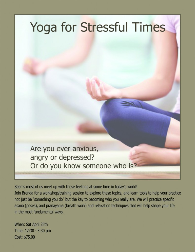 Yoga for stressful times poster